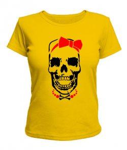 Женская футболка Череп - невеста