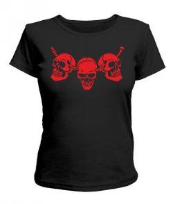 Женская футболка Череп №10