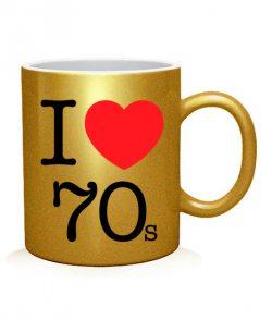 Чашка арт I love 70s