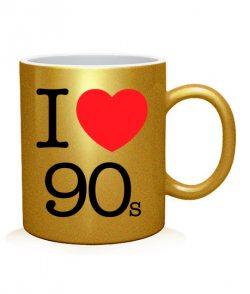 Чашка арт I love 90s