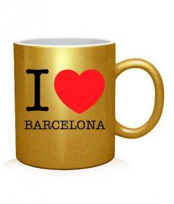 Чашка арт I love Barselona