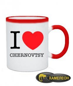 Чашка хамелеон I love Chernovtsy