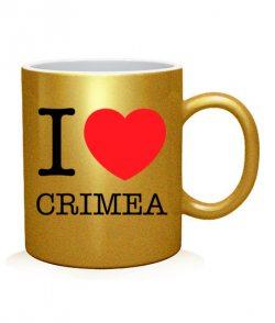 Чашка арт I love Crimea