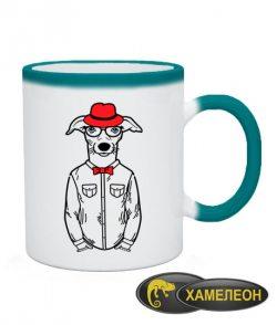 Чашка хамелеон Хипстер-DOG №3