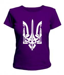 Женская футболка Герб Украины Вариант №27