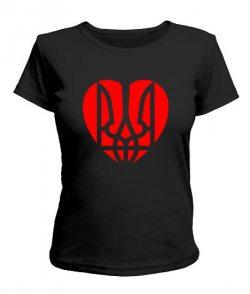 Женская футболка Герб-сердце