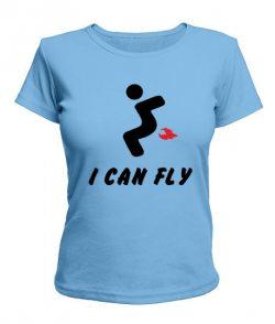 Женская футболка I can fly