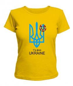 Женская футболка I from UA