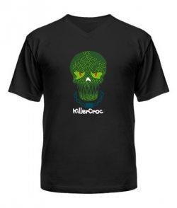 Мужская Футболка с V-образным вырезом Suicide Squad KillerCroc