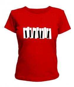 Женская футболка Клавиши