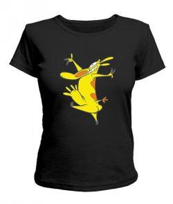 Женская футболка Корова Му №3