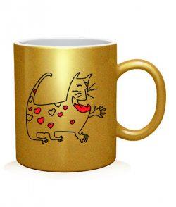 Чашка арт Кот и Кошка (для него)
