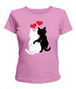 Женская футболка Влюбленные коты