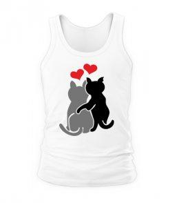 Мужская Майка Влюбленные коты