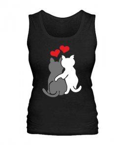 Женская майка Влюбленные коты