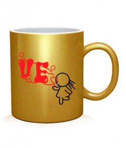 Чашка арт LO-VE (для нее)