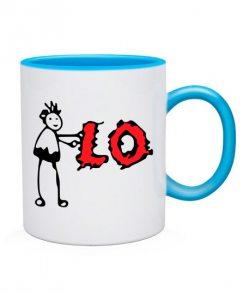 Чашка L-O-V-E (для него)