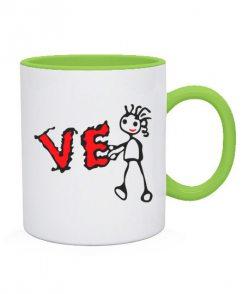 Чашка L-O-V-E (для нее)