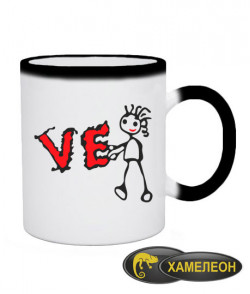 Чашка хамелеон L-O-V-E (для нее)