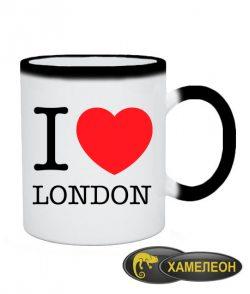Чашка хамелеон I love London
