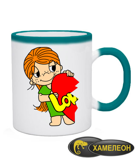 Чашка хамелеон Love is (для нее)