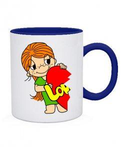 Чашка Love is (для нее)