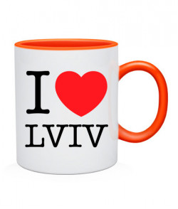Чашка I love Lviv