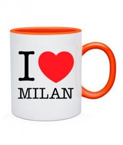 Чашка I love Milan