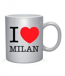 Чашка арт I love Milan