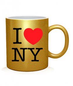 Чашка арт I love NY