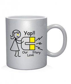 Чашка арт Our love story (для нее)