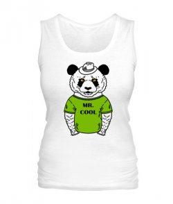 Женская майка Панда-хипстер