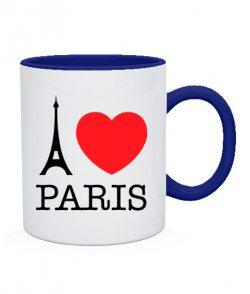Чашка I love Paris Вариант №1
