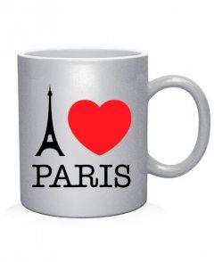 Чашка арт I love Paris Вариант №1