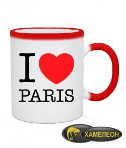 Чашка хамелеон I love Paris