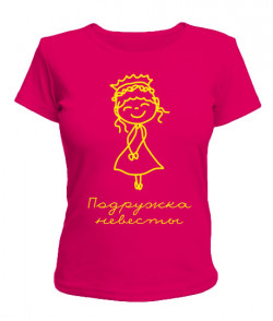 Женская футболка Подружка невесты №3