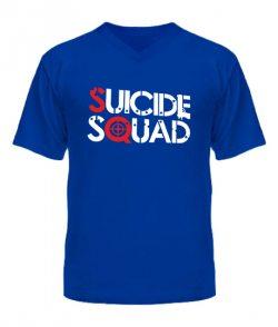 Мужская Футболка с V-образным вырезом Suicide Squad №2