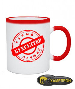 Чашка хамелеон Самый лучший бухгалтер Вариант №4