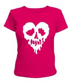Женская футболка Сердце-череп
