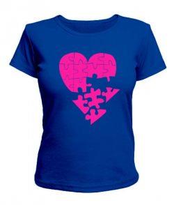 Женская футболка Сердце-пазл