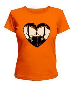Женская футболка Форма сердца