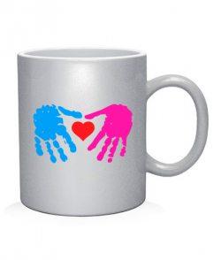 Чашка арт Сердце в руках (для него)