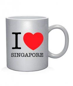 Чашка арт I love Singapore