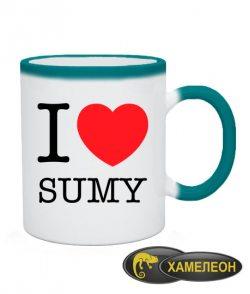 Чашка хамелеон I love Sumy