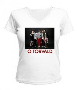 Женская футболка с V-образным вырезом O.Torvald №4