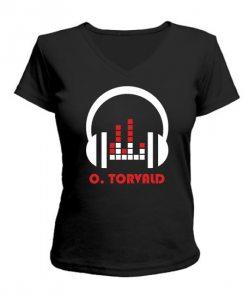 Женская футболка с V-образным вырезом O.Torvald №7