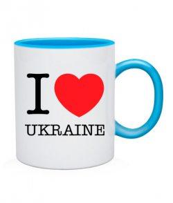 Чашка I love Ukraine
