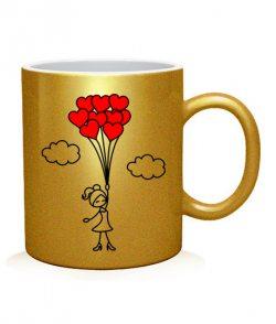 Чашка арт Влюбленная девочка