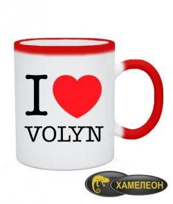 Чашка хамелеон I love Volyn