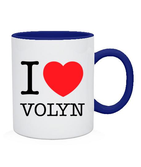 Чашка I love Volyn